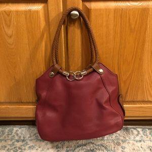 Handbags - Burgundy Purse with Many Pockets